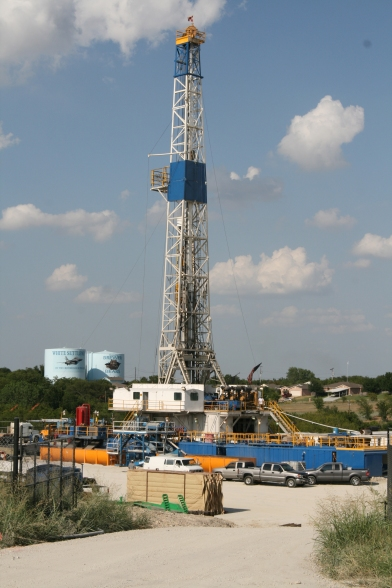 Chesapeake Energy has wells on this site near Las Vegas Trail in White Settlement.