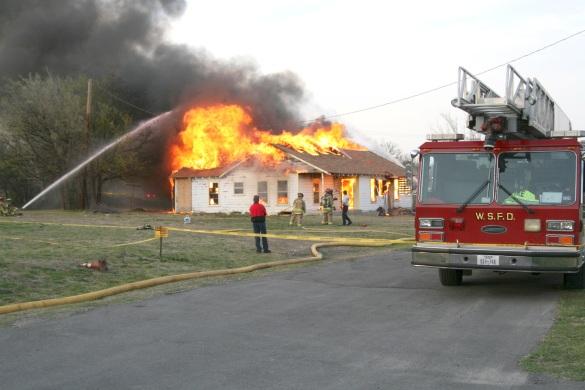 WSFD training fire