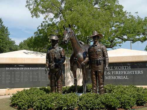 police and firefighter memorial