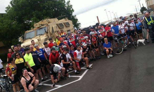 Mayor Price and 2012 base ride participants.