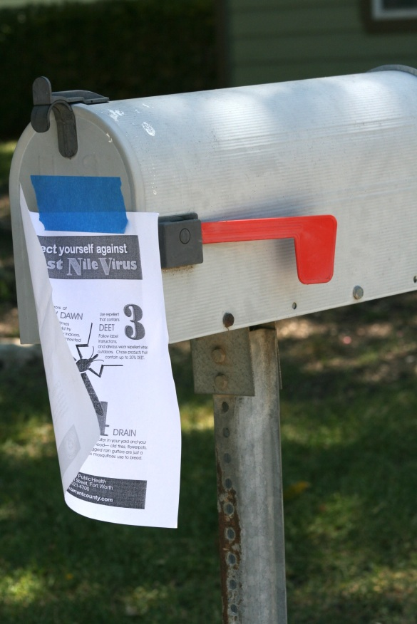 Flyers were placed on mailboxes in the affected area of town.