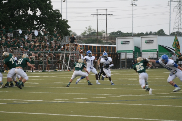 Brewer Bear QB Christian Gibson drops back to pass.