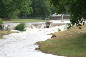 Judd Street bridge during a heavy rain storm. (File Photo Grizzly Detail)