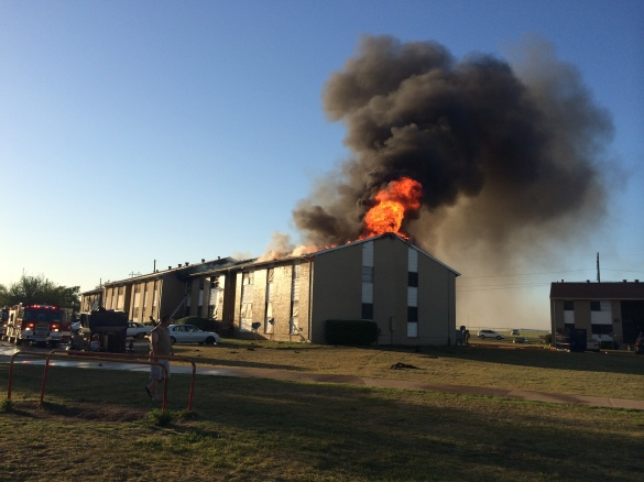 The fire quickly went to 2-alarms after flames spread to the attick.