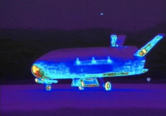 The 29-foot-long unmanned plane, which resembles a mini space shuttle, spent two years circling Earth.