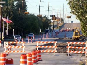 Cherry Lane construction project.