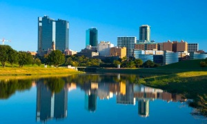 Fort Worth skyline and river