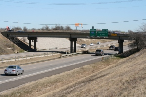 The new bridge will have 6 lanes plus a u-turn on the Eastside.