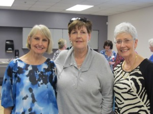 Pictured are l-r, Melinda Welden, Pat Hardy, Betsy McDaniel.