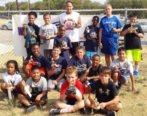 Punt, Pass & Kick participants.