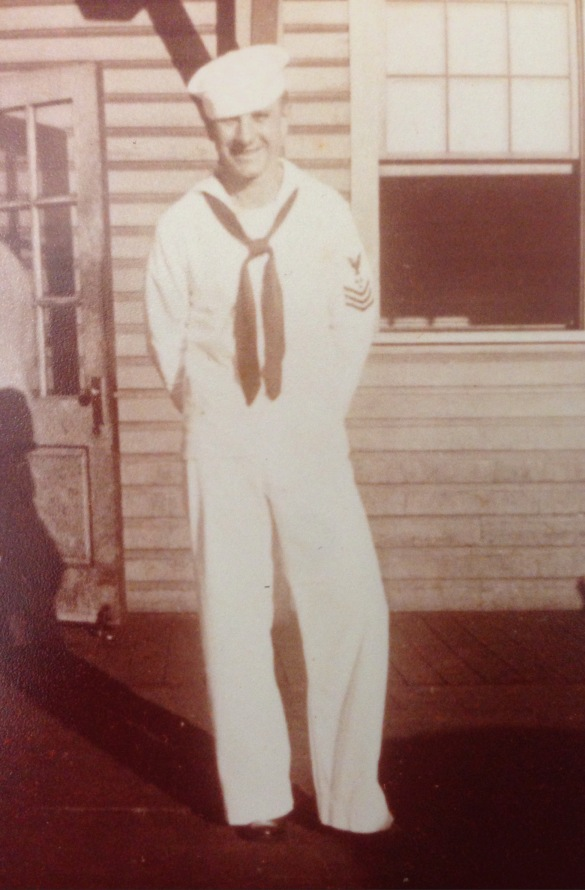 Bob poses for a picture not to long after he joined the Navy.