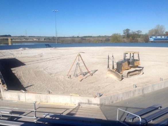New softball turf coming soon.