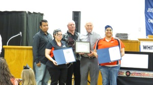 Q Speed Wash was the 2015 Business Member of the Year recipient. Members are shown here holding their award plaque and certificates received from State Senator Jane Nelson and State Representative Charlie Geren.