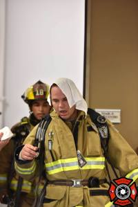 WS Firefighters Steve Viramontes (back) and Michael Jarzombek. Photo by Ben Saladino
