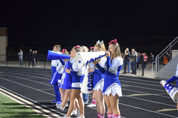 The Brewer cheerleaders show some spirit.  Photo by Ellie Posey