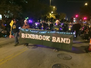 Members of the Benbrook Bobcat Band march in the parade.