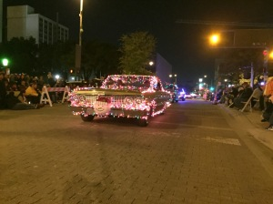 Classic cars from Impalas to Deloreans were decked out in Christmas lights.