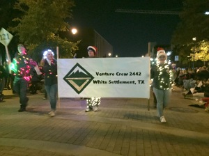The Venture Crew 2442 from White Settlement were decked out in lights for the parade.