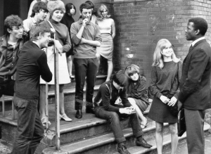 2. Sidney Poitier & Judy Geeson, R, Christian Roberts, far L, and Lulu on stairs in To Sir, with Love. Lulu_s title song was top 1967 U.S. pop single. Columbia Pictures